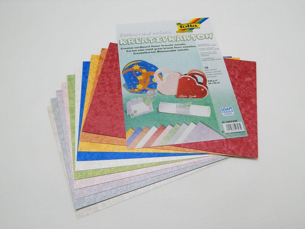 Kreativkarton 230g/m2, 23x33cm 10 listů různé barvy, 5062309