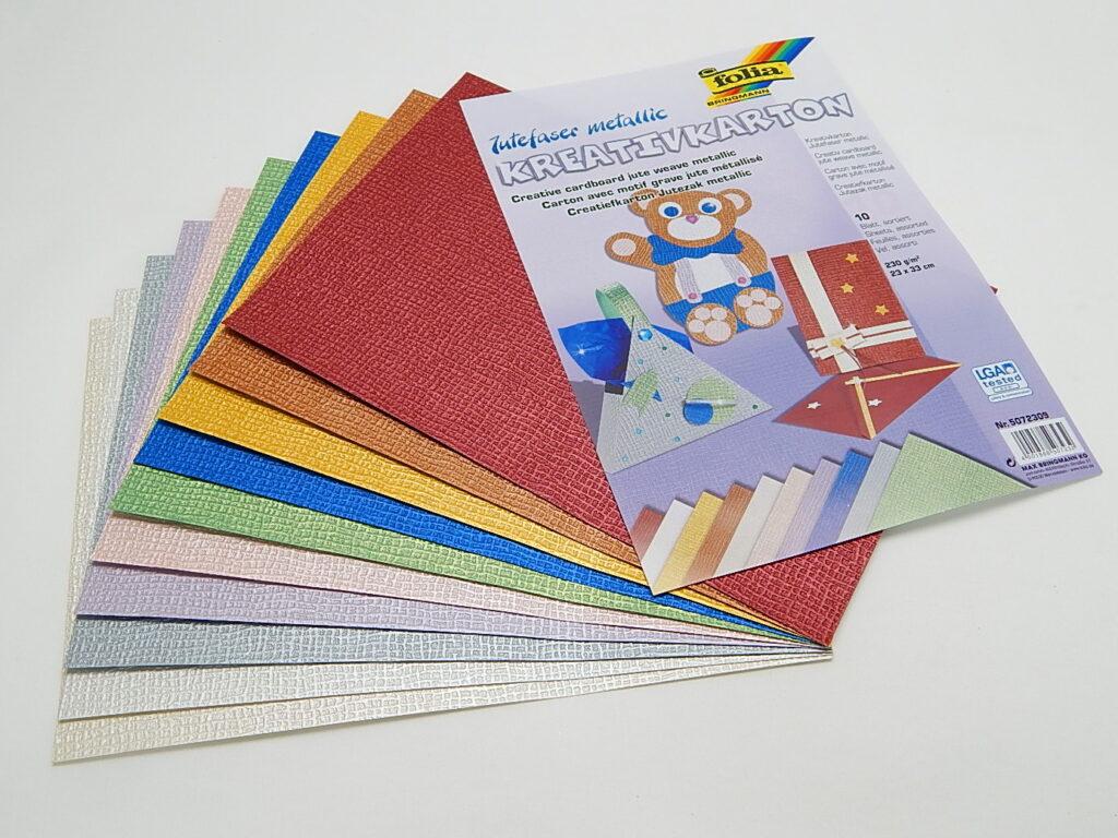 Kreativkarton 230g/m2, 23x33cm 10 listů různé barvy, 5072309