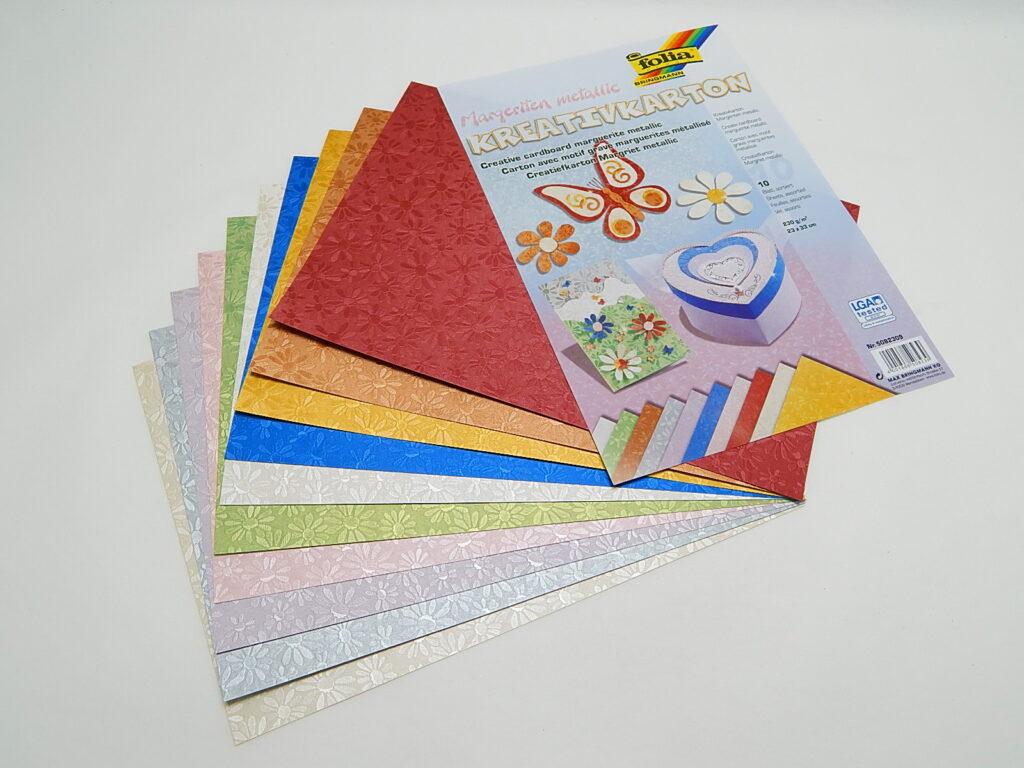 Kreativkarton 230g/m2, 23x33cm 10 listů různé barvy, 5082309