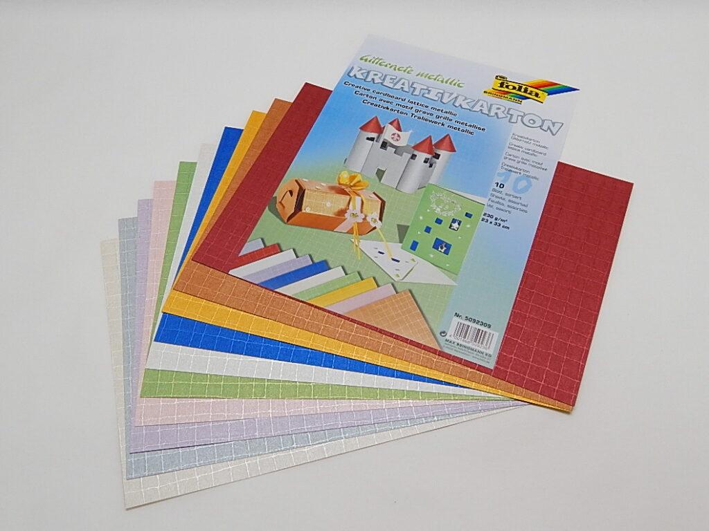 Kreativkarton 230g/m2, 23x33cm 10 listů různé barvy, 5092309
