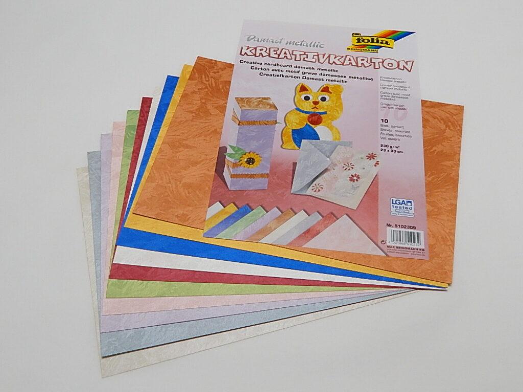Kreativkarton 230g/m2, 23x33cm 10 listů různé barvy, 5102309