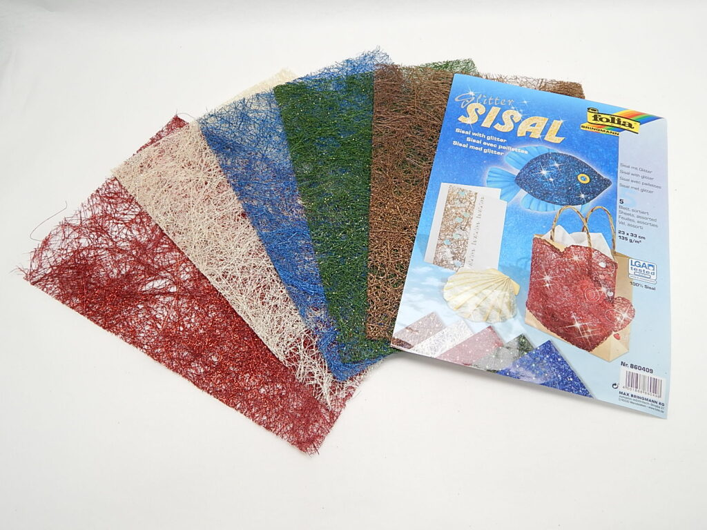 Sisal s glitter 135g/m2 23x33cm 860409