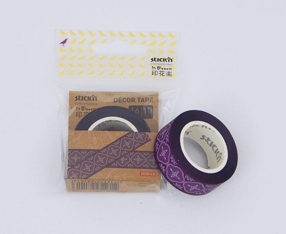 Páska lepící design 16mmx10m, vín.červená, odnímatelná /28141/