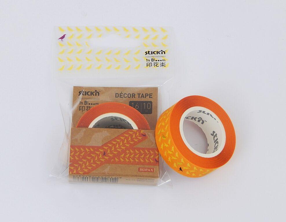 Páska lepící design 16mmx10m, oranžová, odnímatelná /28143/