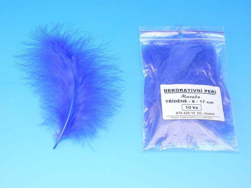 Peří MARABU 10ks tm.modré 876426-10 velké