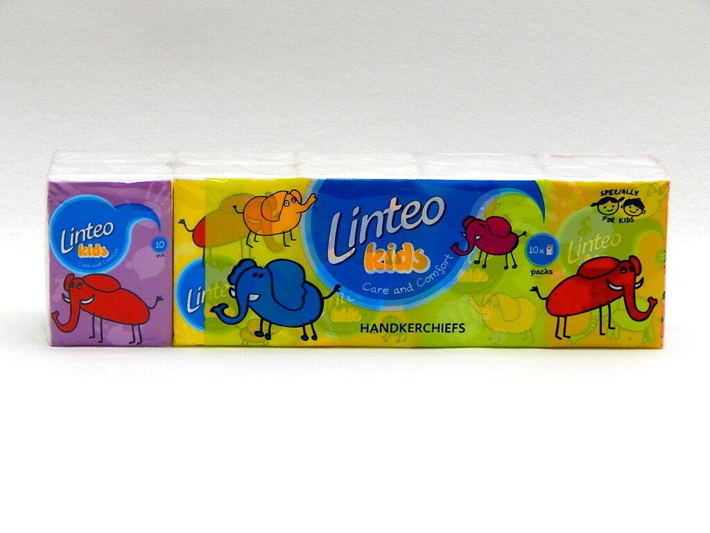 Kapesníky LINTEO KIDS mini 10x10, 3-vrstvý, 301050
