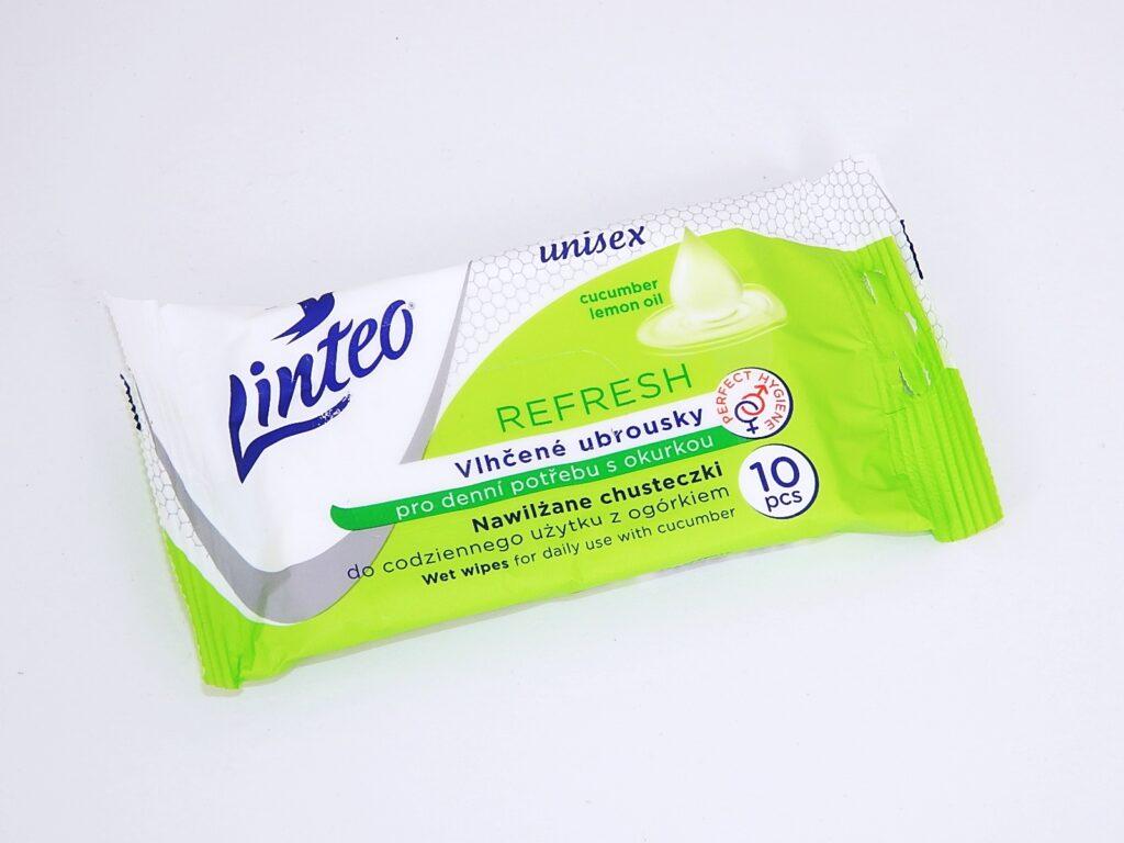 Ubrousky vlhčené Linteo REFRESH 10ks. s cit. olejem / 25822