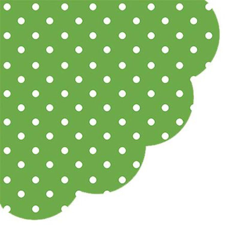 Ubrousky Zelené + tečky pr. 32 cm /SDR066018/