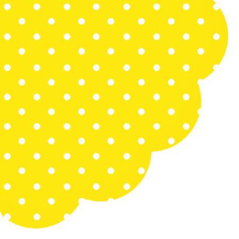 Ubrousky Žluté + tečky pr. 32 cm /SDR066017/