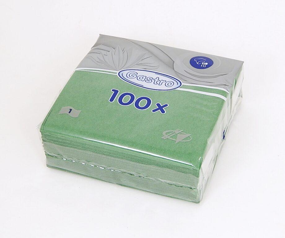 Ubrousky 33 x 33 cm, 1 v., tm. zelené 100 ks