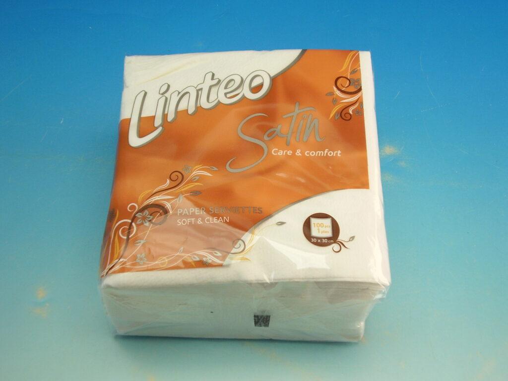 Ubrousky LINTEO SATIN 30x30 100ks bílé