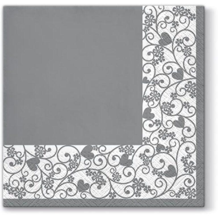 Ubrousky 33x33cm Rámeček šedý /TL676053/