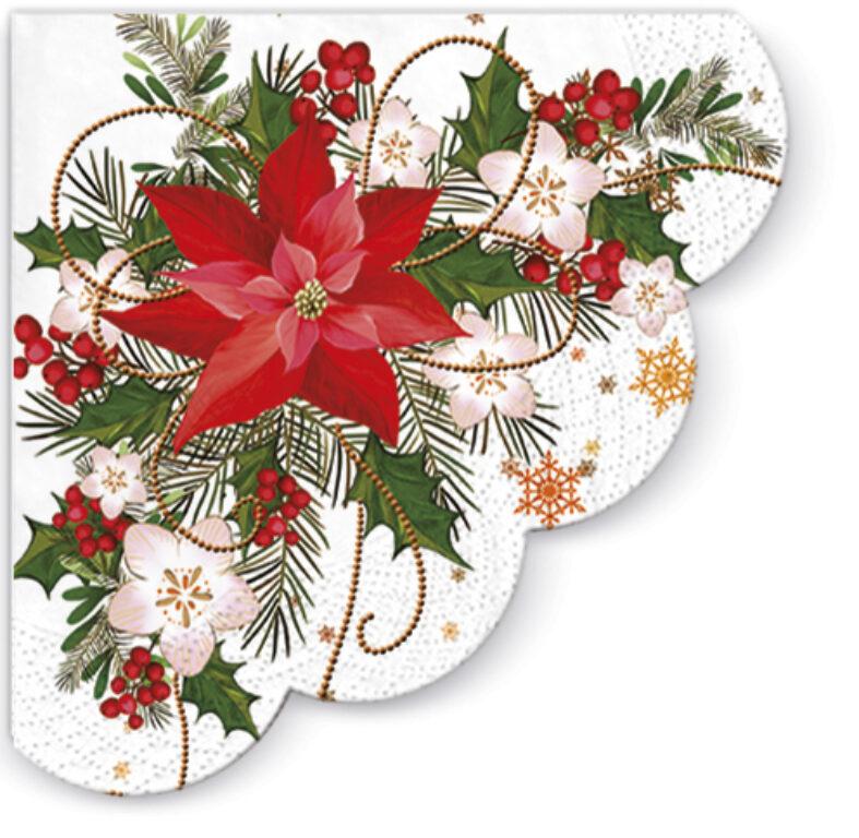 Ubrousky PAW Vánoční hvězda 32cm
