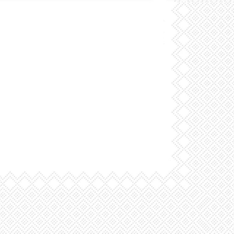 Ubrousky jednobarevné BÍLÉ 3-vrstvý 33x33cm / 236000