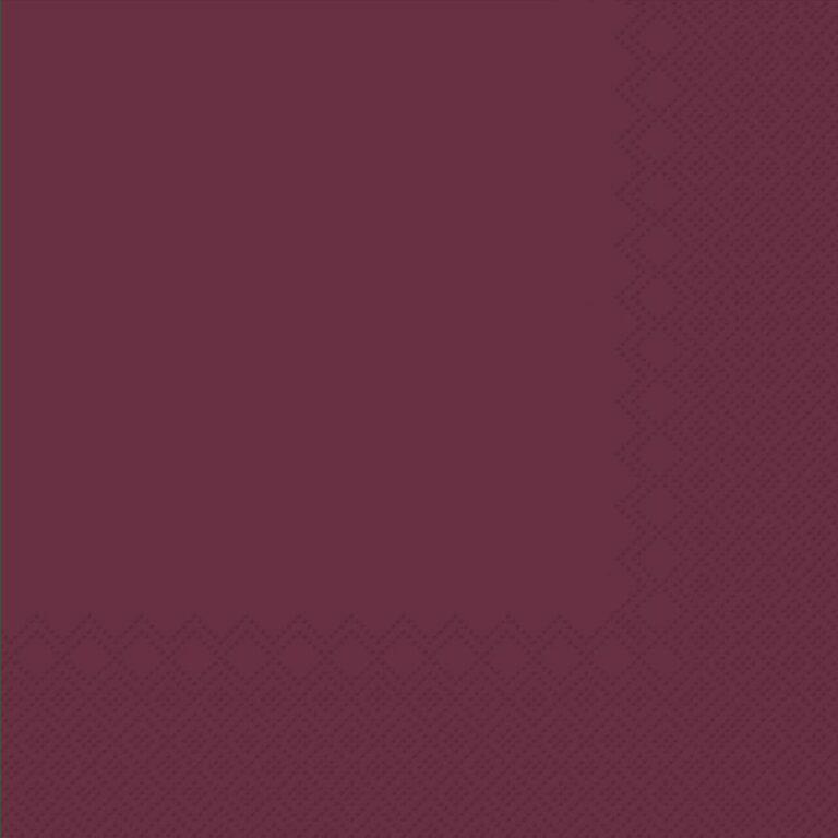 Ubrousky jednobarevné BORDÓ 3-vrstvý 33x33cm / 236002