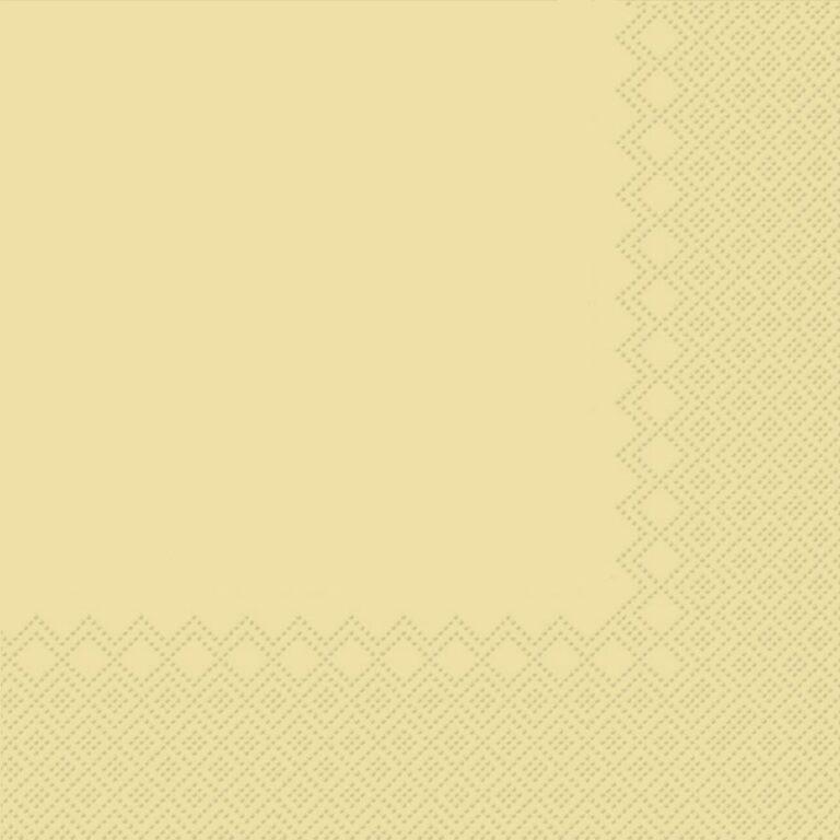 Ubrousky jednobarevné KRÉMOVÉ 3-vrstvý 33x33cm / 236005