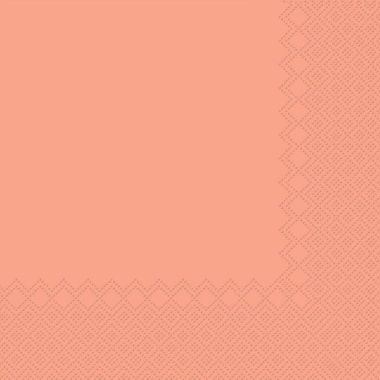 Ubrousky jednobarevné LOSOSOVÉ 3-vrstvý 33x33cm / 236006