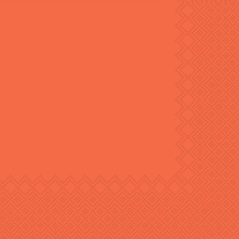 Ubrousky jednobarevné ORANŽOVÉ 3-vrstvý 33x33cm / 236007