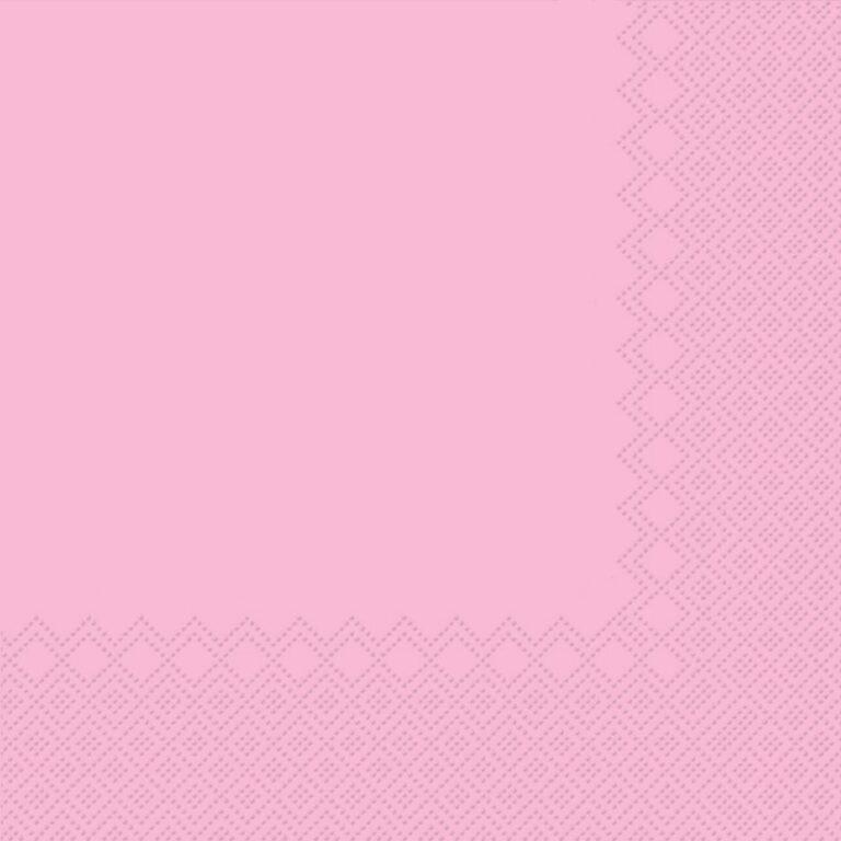 Ubrousky jednobarevné RŮŽOVÉ 3-vrstvý 33x33cm / 236008