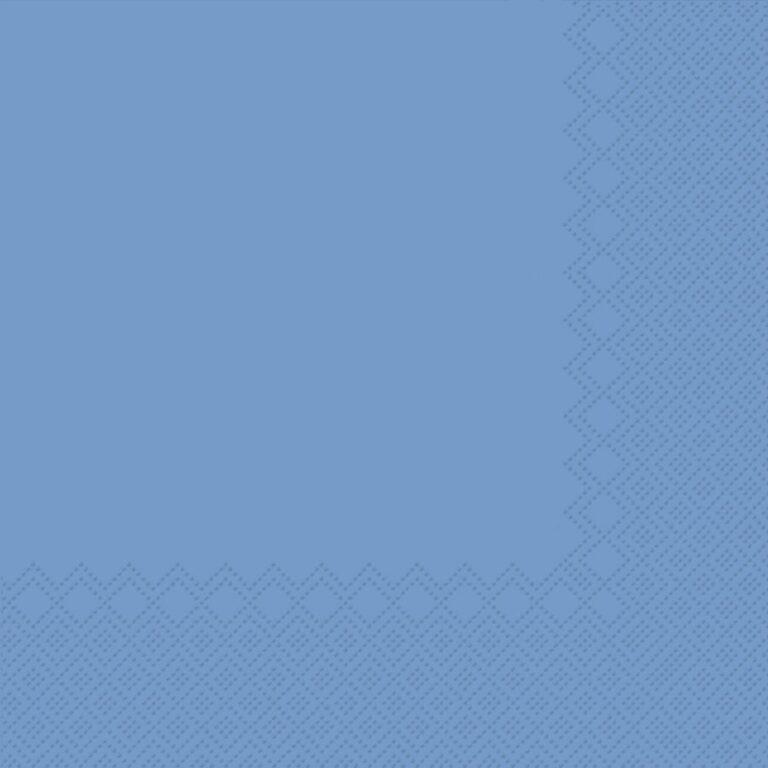 Ubrousky jednobarevné SV.MODRÉ 3-vrstvý 33x33cm / 236009