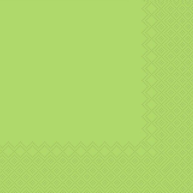 Ubrousky jednobarevné SV.ZELENÉ 3-vrstvý 33x33cm / 236010