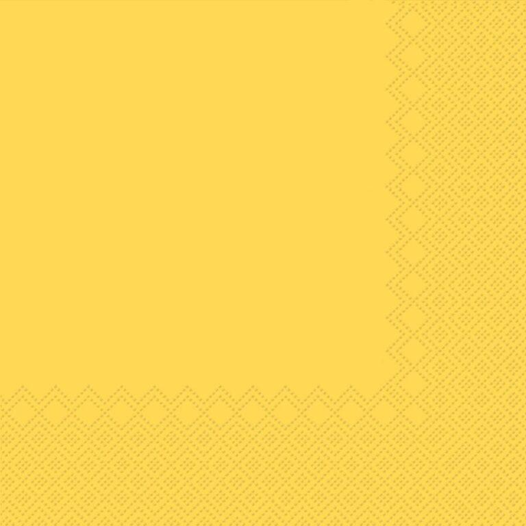 Ubrousky jednobarevné SV.ŽLUTÉ 3-vrstvý 33x33cm / 236011