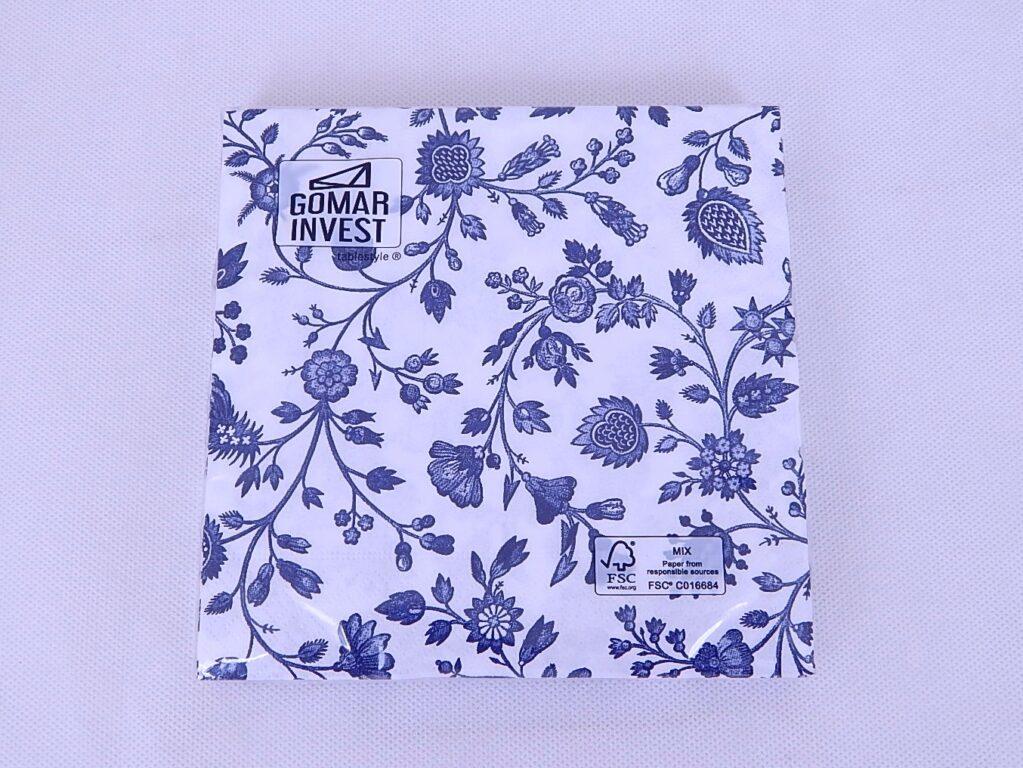 Ubrousky Gomar /SK 0154_2/ Květiny modré