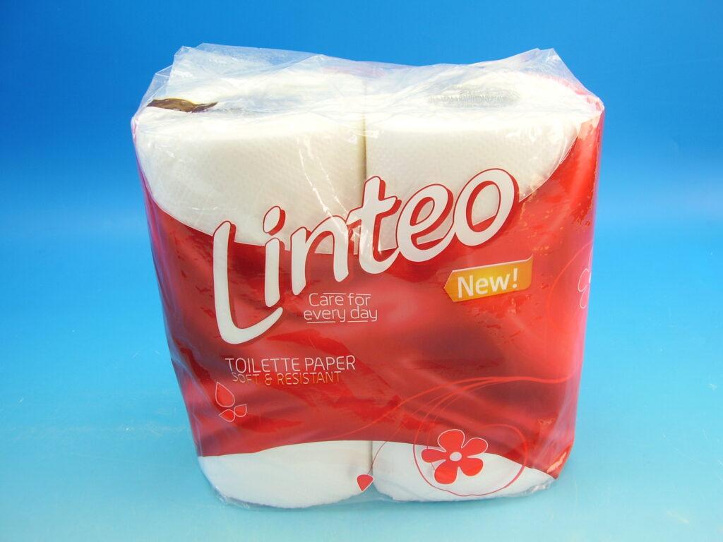 Papír toaletní LINTEO Classic bílý, 2.vrstvý, 4x17m, 206160