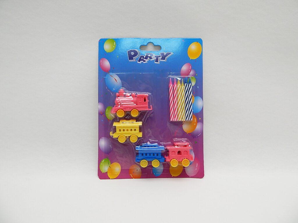 Svíčky na dort vlak 6+4ks /889242/