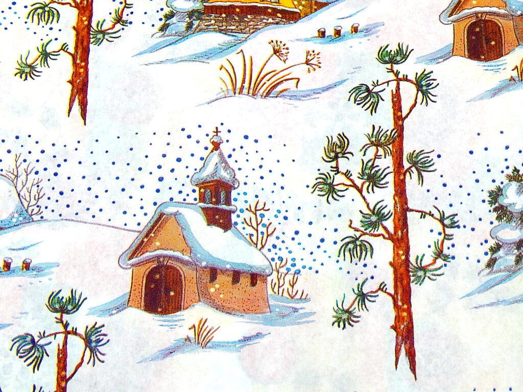 Papír vánoční Lika   Zimní kaplička 70x100