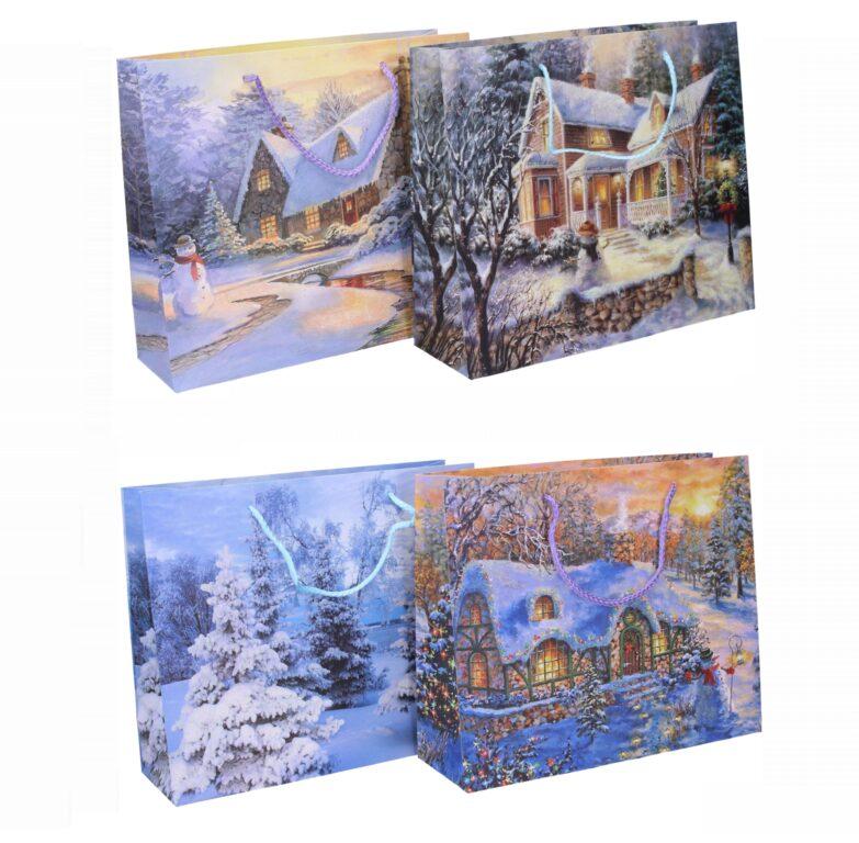 Taška dárková vánoční  31x25x10 / 874508