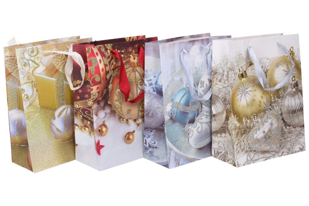 Taška dárková vánoční 18x24x8,5 / 874485