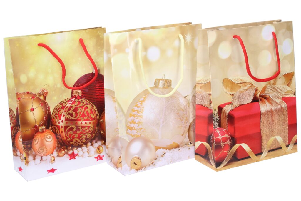 Taška dárková vánoční 17,5x23,5x7cm  ( 870279 )