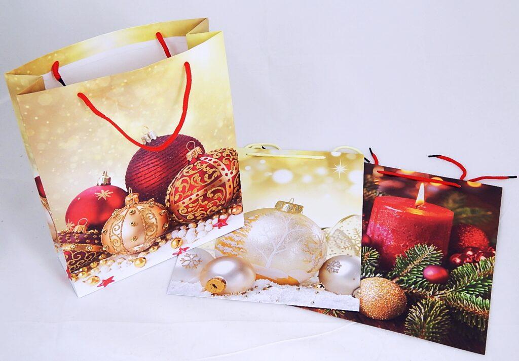 Taška dárková vánoční 26x32x9cm ( 870280)