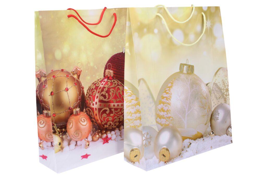 Taška dárková vánoční 32x40x10cm ( 870281 )