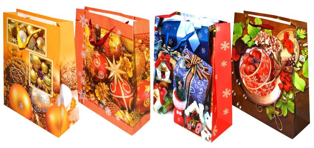Taška dárková vánoční 23x17,5x9cm ( 870323)