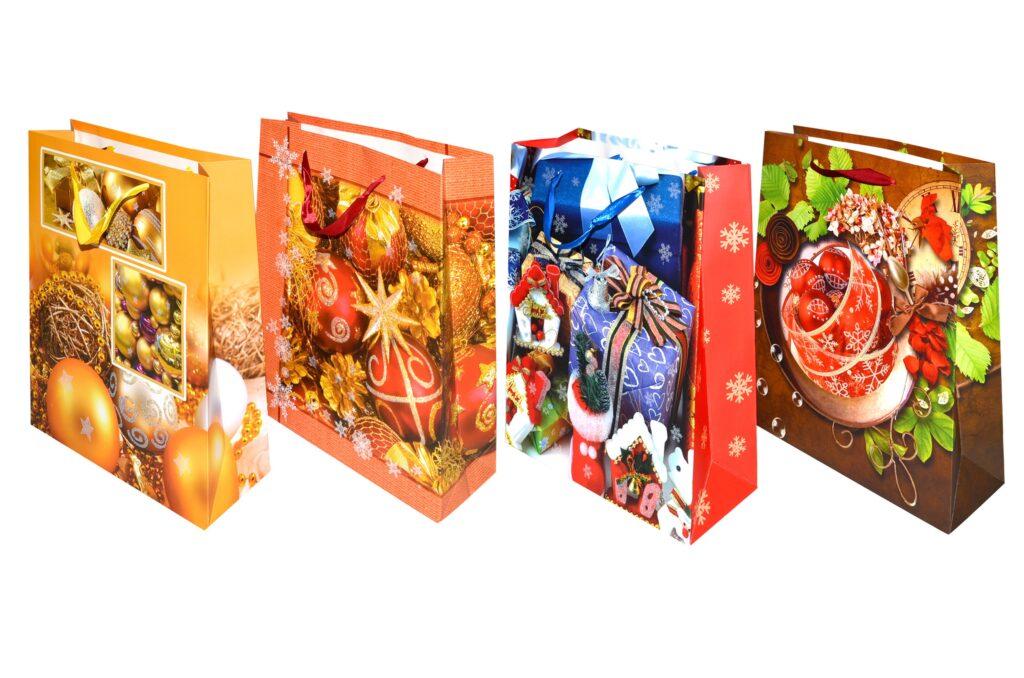Taška dárková vánoční 32x26x10cm ( 870324)