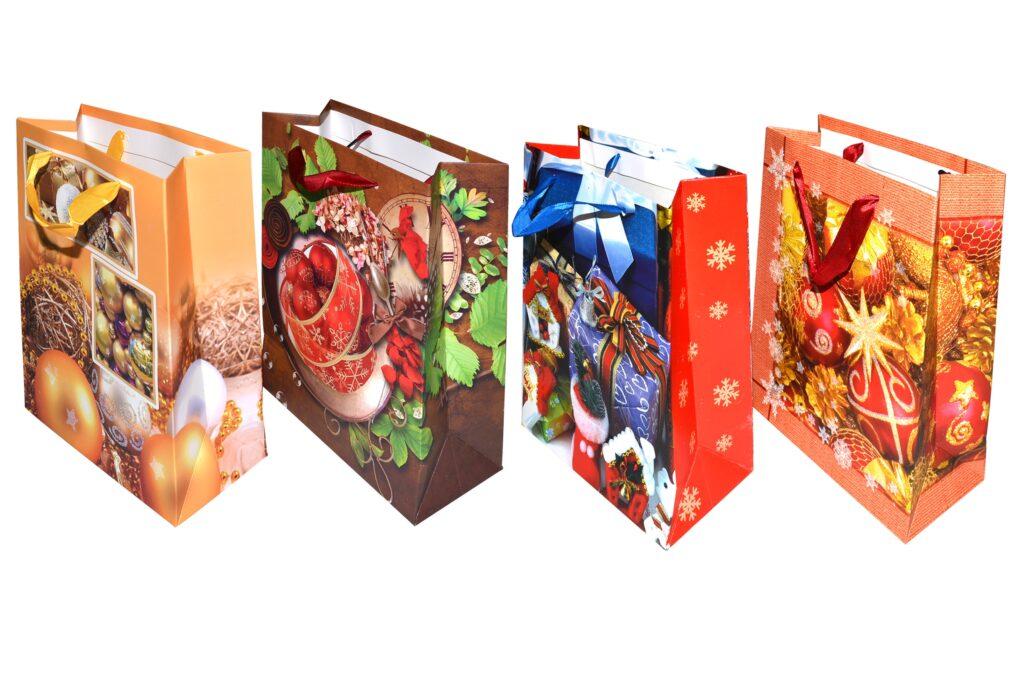 Taška dárková vánoční 23x17,5x8,5 cm  ( 870326)