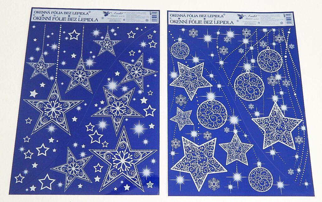 Dekorace okenní Hvězdy s gl. rohová /487/
