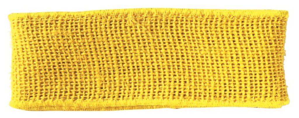 Stuha jutová žlutá šířka 6 cm, 2 m /2857/