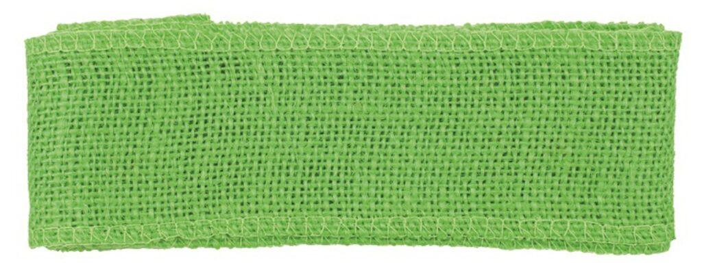 Stuha jutová zelená šířka 6 cm, 2 m /2858/