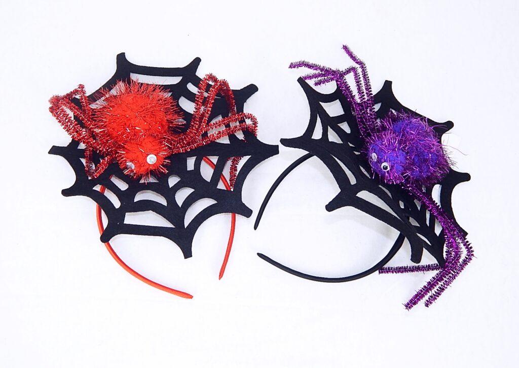 Maska Čelenka pavučina s pavoukem / 880381