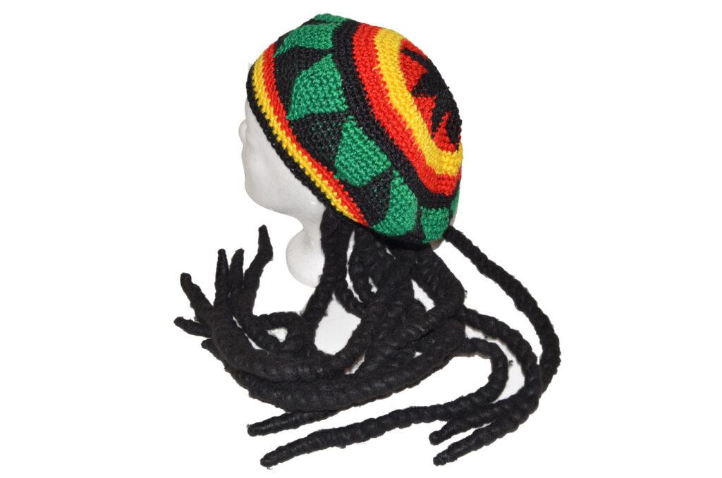 Maska Čepice Jamajčan - pletená /880316/