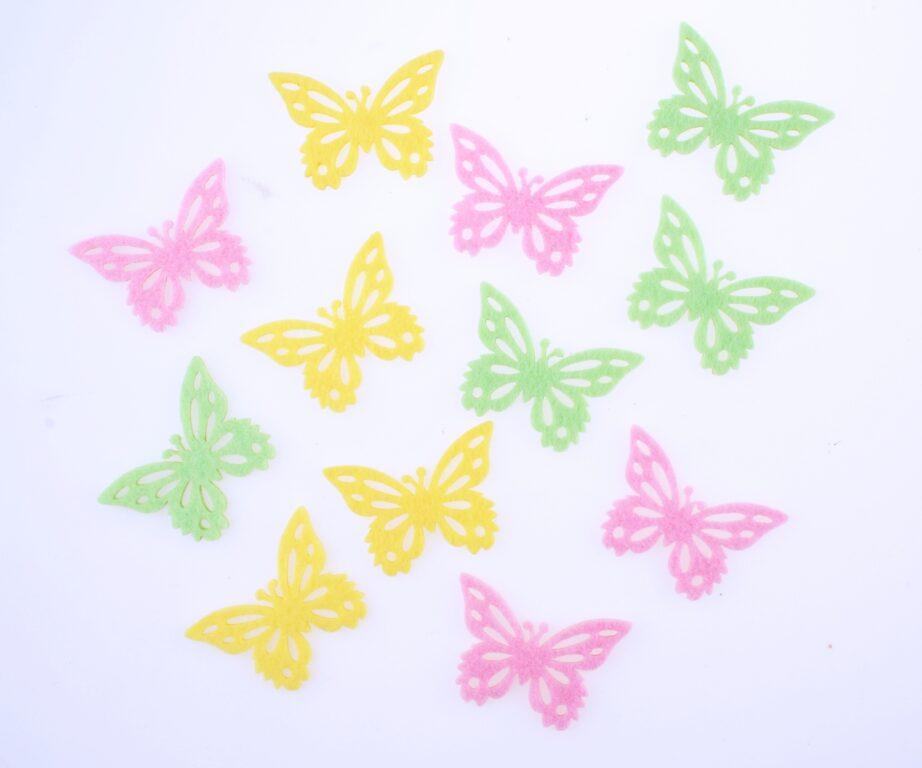 Motýlci z filcu 3,5cm 12ks /8566/