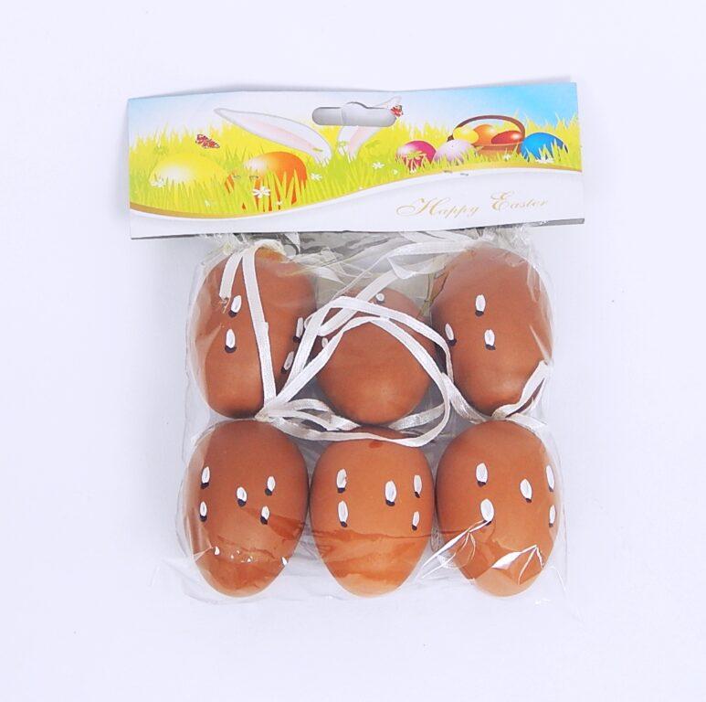 Vajíčka plastová na zavěšení 6cm 6ks /8968/