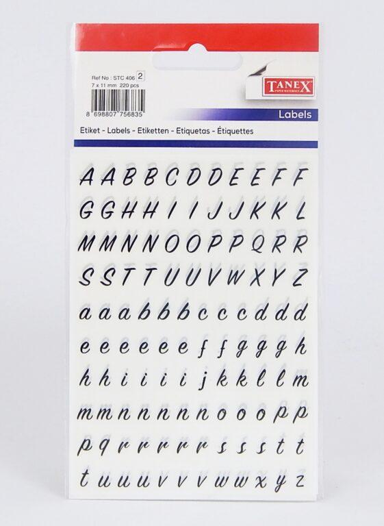 Samol.STC-406 písmena 7 x 11 220ks