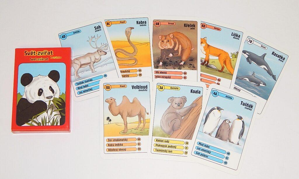 Karty Svět zvířat - Kvarteto / 2331