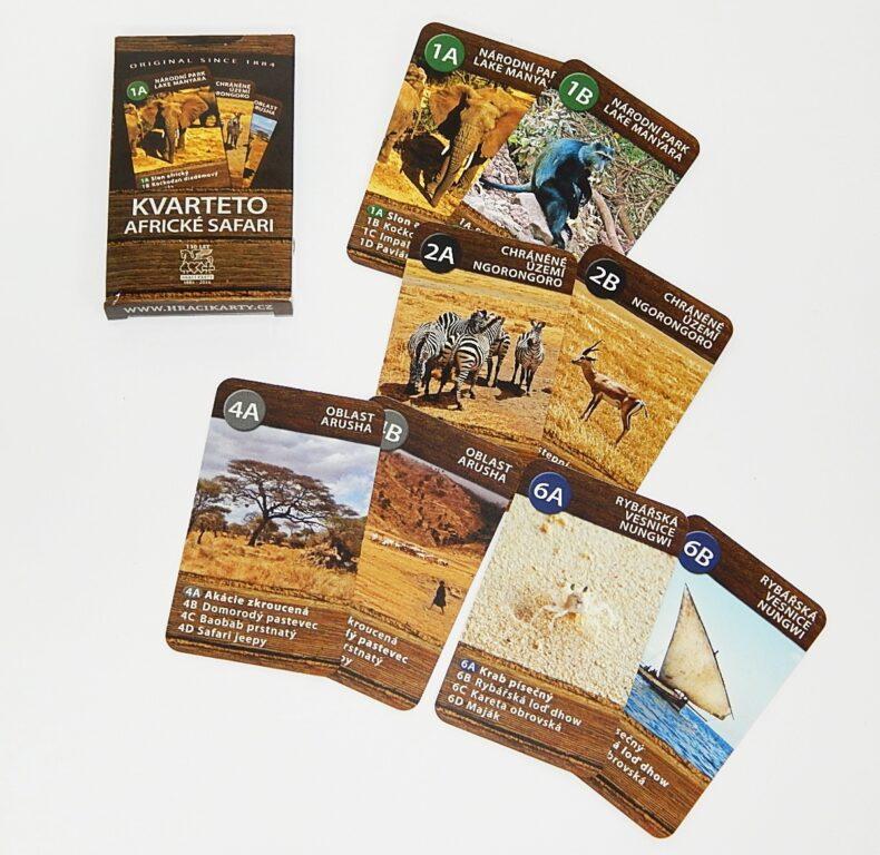 Karty 2101 Africké Safari kvarteto