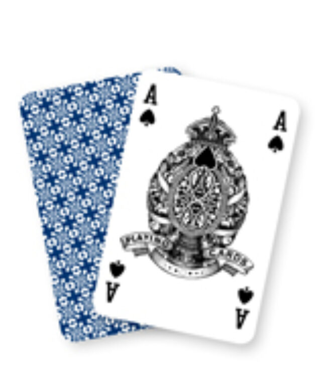 Karty 1666 Poker revers květovaný