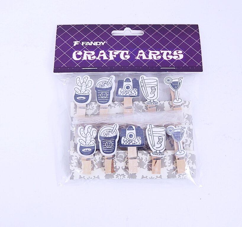 Kolíčky dekorační Shapes 09 retro /170431/